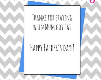 Hilarious joke Father's day honest card funny rude cheeky banter father dad daddy card