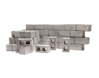 1:12 Mini Cinder Blocks - 50 Pack