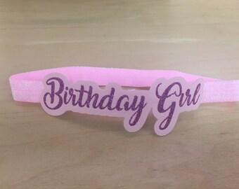 Birthday Girl custom headband