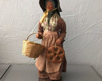 """Vintage French Terracotta Dressed Santon From Provence Signed """"PEIRANO"""" 26041715"""
