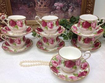 Royal Albert Old English Rose teacup and saucer