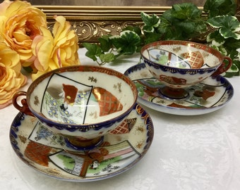 Set of two teacups and saucers.