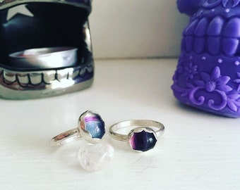 Fluorite sterling silver ring