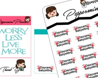Daycare or Babysitting Stickers {#117}