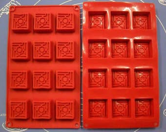 Silicone mold 12 footprints / petit fours 28.5 X 17 CM