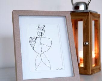 B&W Sketch Illustration 18x24cm