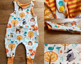 Rompers forest animals in 50 to 74