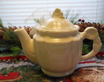 Vintage White Shawnee Teapot 1940's