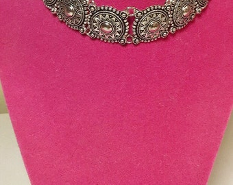 Silver Plated Boho Adjustable Choker Necklace