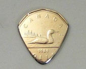 Coin Guitar Pick - Canada 1 Dollar - 1989 - Loonie