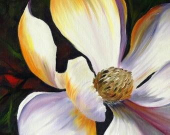 Magnolia Blossom, 16x20, Oil on Acrylic