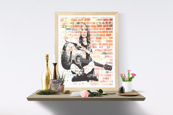 Guitar, Printable Art, Print, Wall Art, Wall Prints, Art Print, Art Prints, Digital, Digital Paper, Printables, Modern Art, Print Wall Art