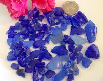 Tiny Small Sea Glass, Small Blue Sea Glass, Craft Supplies, Jewelry Supplies, Mosaics, Nautical Decor, Beach Glass, Surf Tumbled, Sea Glass