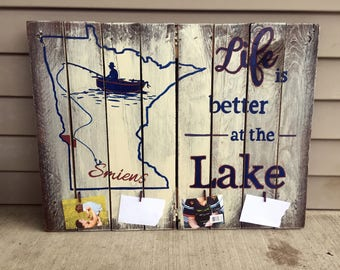 Life is Better at the Lake Personalized Wall Hanging