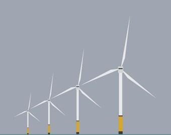 Windfarm Art Print