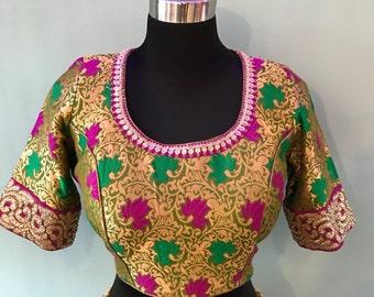 Designer Banarasi silk sari blouse