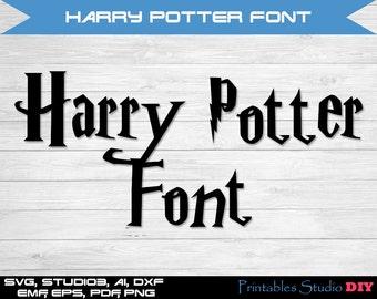 Harry Potter font SVG cuttable Alphabet Svg Dxf Eps TTF Cricut Design Space, Silhouette, Digital Cut Files, Instant Download