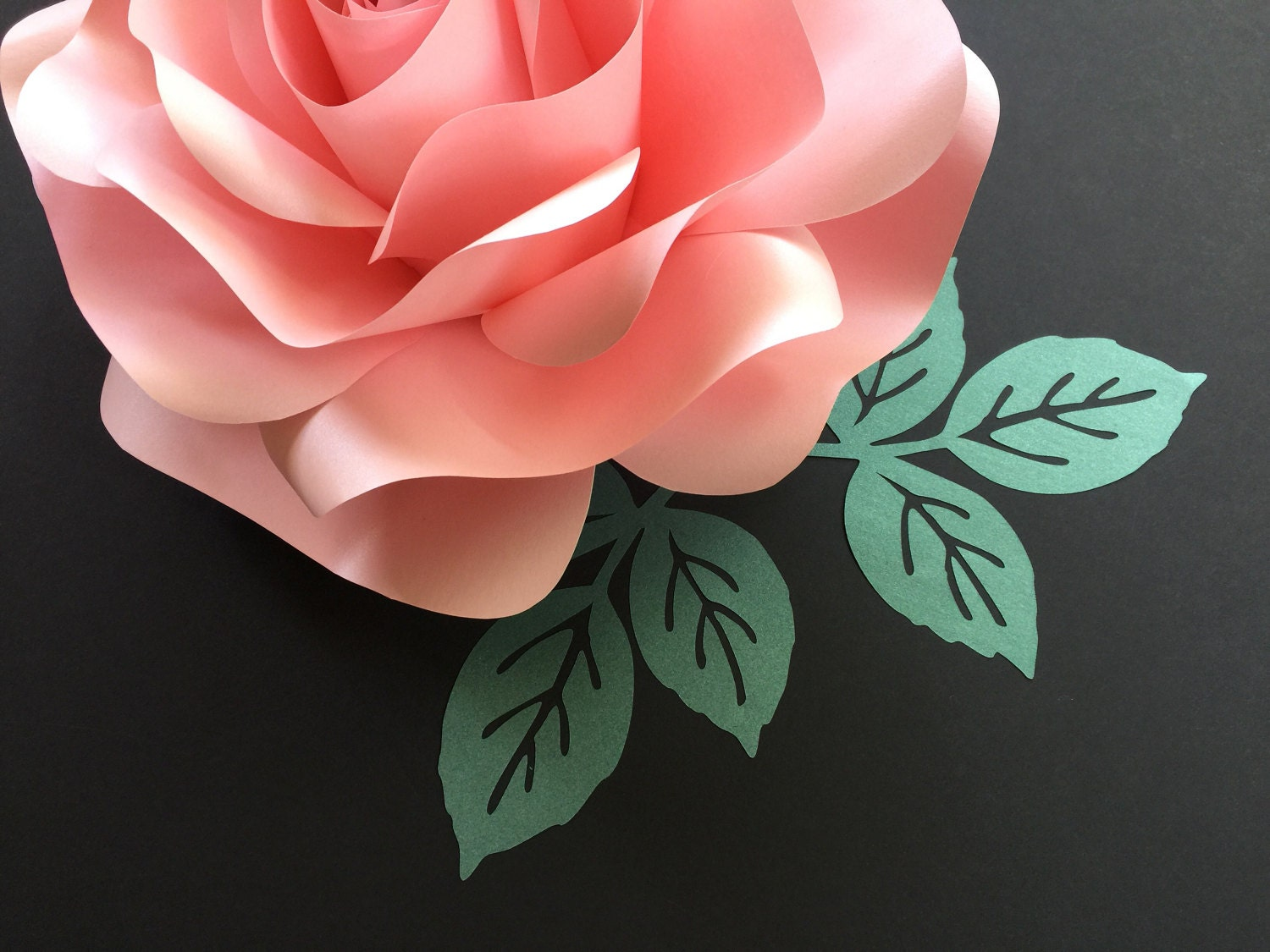 how to make paper leaves for roses