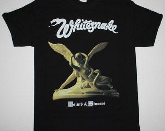 Whitesnake Saints And Sinners black t shirt