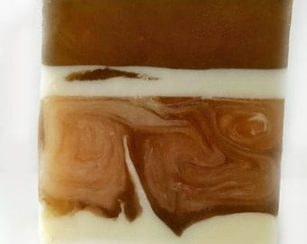 Handmade Irish Mocha Soap / Phthalate Free / Gluten Free  / Organic Goats Milk and Aloe / ORGANIC!