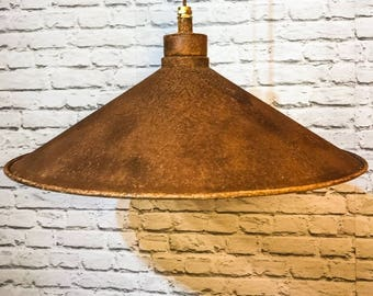 Rusted metal 500mm pendant shade set