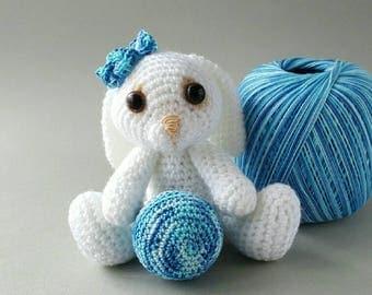 Bunny Toy Crochet Bunny Soft Toy Amigurumi toy Handmade Rabbit toy Stuffed animal Nursery decor Made to Order