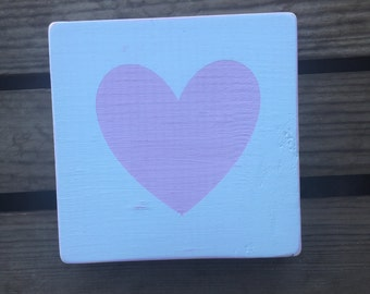 Pink heart wood sign. Pink heart. Wedding decor. Valentine's Day decor. Heart wood sign. Painted wood sign.