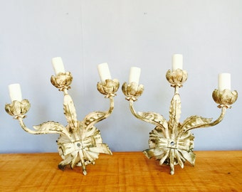 Pair of Vintage Wall Sconces made in Spain Early 1900's