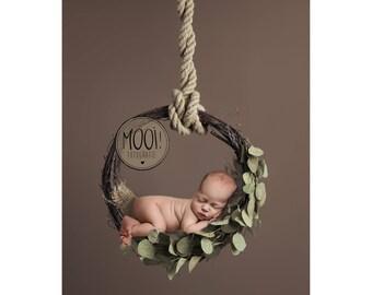 Digital Prop for Newborn - Digital background - Newborn Photography - hanging basket - dreamcatcher - Bed - flower - wreath - woodland