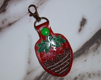 Chocolate Covered Strawberry Keychain