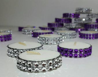 Bling Tealight Candles  Many Colors Available