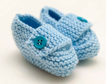 Blue Baby Boots 0-3 months