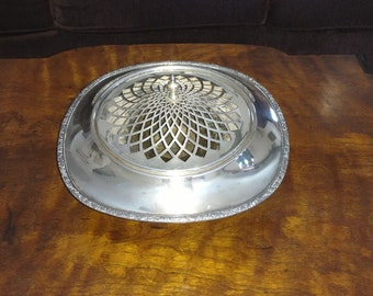 Vintage Potpourri Glastonbury Silver Plate Dish