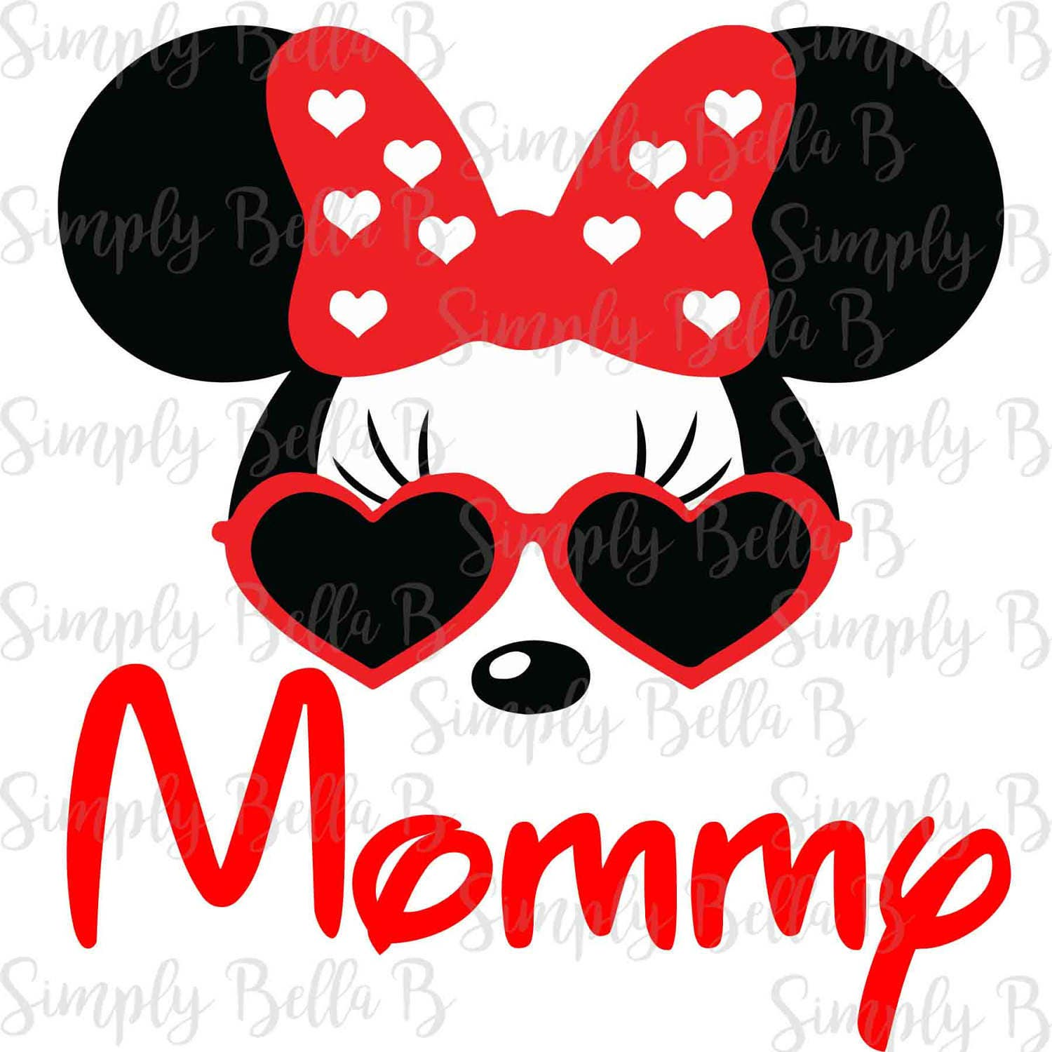 Minnie Sunglasses Mommy Instant Download Printable Digital