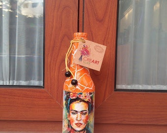 Decorated half bottle