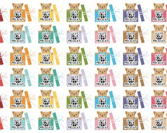 I left you a poop present - Litter box cleaning Planner Stickers