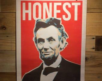 "Abe Lincoln ""honest"" print"