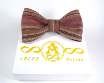 Purple striped ties, Bow Tie For Wedding, Purple Bow tie for groomsmen, Bow ties for men, Mens designer ties, Boys bow tie, Purple bow tie