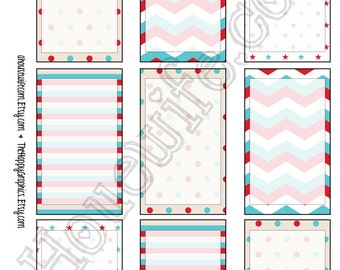 Happy Planner stickers [87] , Full box, A5 PDF, Instant download
