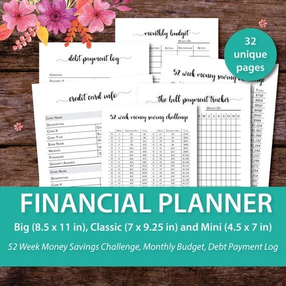Budget Binder Monthly Budget Planner Happy Planner Budget