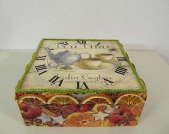 Wooden box teatime