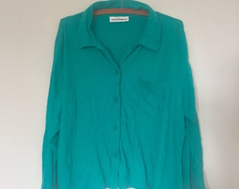 Vintage turquoise button down shirt