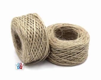 x 1 roll of cord from hemp beige 1 ~ 2 mm 50 m