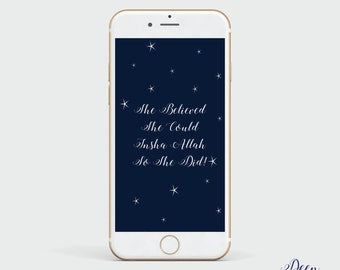 Islamic phone wallpaper, She Believed She Could  iPhone background, Wallpaper Download, Phone Background Design, Islamic Wall Paper, Muslim
