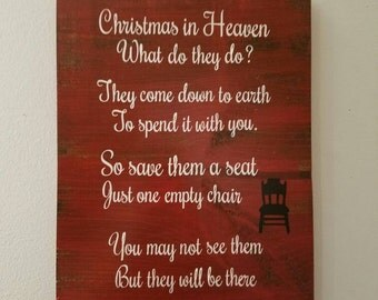 Christmas in heaven sign