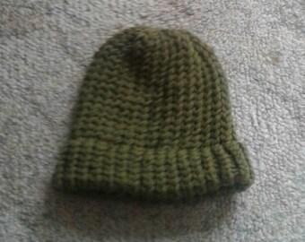 100% New Zealand Wool Toddler Beanie - Green