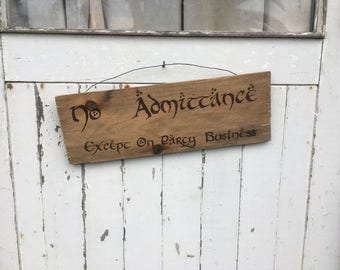 No Admittance - Rustic Wood Burned Sign