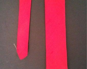 Vintage 1960's Skinny Silk Red Necktie