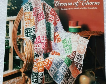 1994 The Needlecraft Shop Crown of Thorns Crochet Afghan Pattern