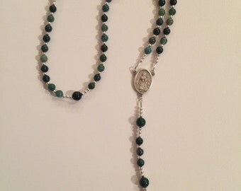 St Patrick rosary with celtic cross